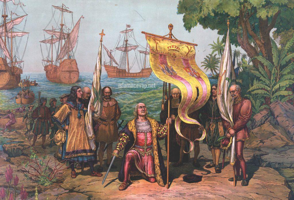 Columbus Taking Possession 1024x695 - อาณาจักรอิสลามในสมัยก่อน